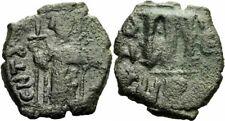 Byzanz Constans II Follis Constantinopolis 645/6 Langkreuz Kreuzglobus Sear 1005