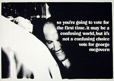 MCGOVERN ...  SO YOU'RE GOING TO VOTE FOR THE FIRST TIME   original 1972 poster