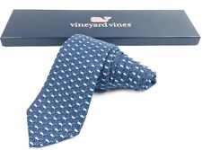 NWT Vineyard Vines Rare Classic Silk Tie Candy Cane Whale Christmas Holiday $85