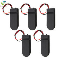 5PCS Case Box Battery Holder CR2032 Button Coin Cell 6V Lead ON/OFF Switch