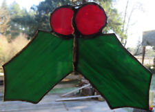 Stained glass Christmas ornament or sun catcher handmade NEW. FREE US Shipping