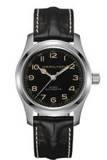 Hamilton Khaki Field Murph Auto Black Dial Leather Band Men's Watch H70605731