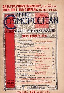 1894 Cosmopolitan September - Bram Stoker; Mussulman Secret Societies; Niagara