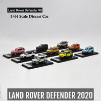 1:64 Land Rover Defender 90 hard top White/Gulf/Camel trophy/Pink Pig/Gold Car