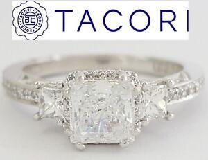 0.55 ct TACORI Dantela 2622PRSMP Platinum Semi-Mount Engagement Ring Rtl $5,210