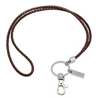 Office Lanyard, Boshiho PU Leather Necklace Lanyard with Strong Clip and Keychai