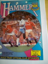 westham united v newcastle united division 1 22/10/1988