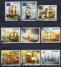Bateaux Paraguay (47) série complète de 9 timbres oblitérés