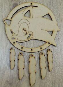 MDF Dream Catcher Sonic the Hedgehog H (M) Embellish, Pain, Colour, Craft, DIY