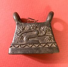 Antique Bronze Bell from Burma, with well executed image of tree in blossom