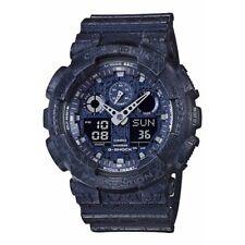 NEW* CASIO MENS G SHOCK DARK BLUE CRACKED XL WATCH GA100CG-2A RRP £149