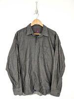 UNTUCKit Button Up Shirt Men XL Long Sleeve Gray Cotton Casual Regular