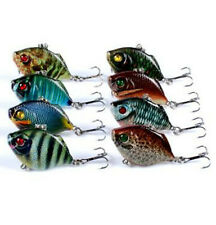 8pcs Sinking Fishing Lure 4.5cm/8.8g Crankbaits Hard Artificial VIB Vibration Ba