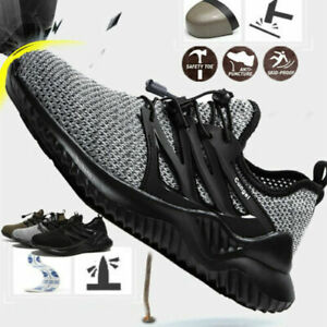 Men's Steel Toe Cap Safety Labor Shoes Work Boots Light Indestructible Sneakers