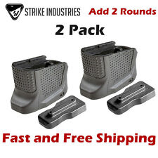 Strike Industries Magazine Base Plate Enhanced Extension for Glock 43 (2 Pack)