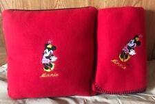 Minnie Mouse Red Throw And Pillow New In Package