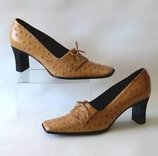 Guglielmo rotta italie fait main camel en cuir véritable autruche cour chaussures uk 6