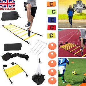 19pcs Set Speed Agility Hurdles Poles Cones Ladders Football Training Equipment