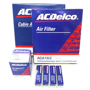 ACDelco Honda Civic 1.8L R18A Service Kit Oil Air Pollen Filter Spark Plugs
