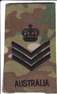 Multicam Army Australia Rank Slide SSGT X1