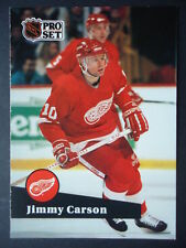 NHL 55 Jimmi Carson Detroit Red Wings Pro Set 1991/92