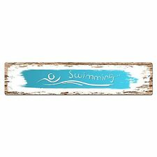 SP0391 SWIMMING Chic Street Sign Bar Store Shop Cafe Home Wall Decor