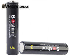 2X Soshine 3.7V AAA 10440 350mAh with PCB Protected Board Li-ion Battery