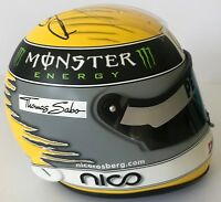 NICO ROSBERG HAND SIGNED F1 1/2 SCALE HELMET 2010 MERCEDES VERY RARE.