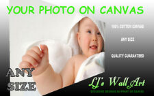 """Photo On Canvas Print Your Personalised Picture Framed Ready to hang 20"""" x 20"""""""