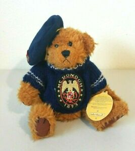 """1997 Brass Button Collectables McDonogh 1873 Fully Jointed Bear Plush 12"""""""