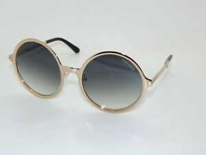 TOM FORD FT 572/S 28B AVA-02 Gold/Grey Gradient Authentic Round Sunglasses