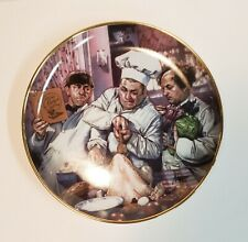 The Three Stooges Plate, The Cooking Lesson. 1994, Limited Edition.