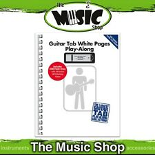 New Guitar Tab White Pages Play-Along Music Tuition Book with USB Flash Drive