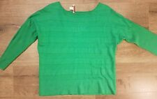 Coldwater Creek Womens Large 14 Knit Top Kelly Green