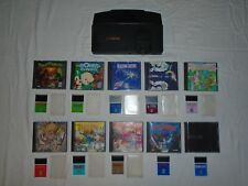 NEC TurboGrafx-16 console and 10 games Splatterhouse Bonk's Revenge R-Type