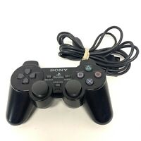 Official Playstation 2 Wired Dual Shock 2 Controller (Black Metallic)