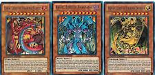 Yugioh GX Sacred Beast Egyptian God Cards Raviel Uria Hamon Ultra Rare Card Set