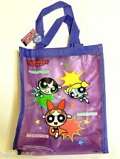 "NEW W/TAGS ~ POWERPUFF GIRLS~ PURPLE   VINYL CARRY TOTE BAG  12"" X 10"""
