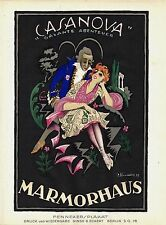 Original vintage poster print CASANOVA FILM 1920 Fenneker