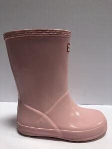 Hunter Kids' Original First Classic Rain Boots-Pink, Girls' Size 11.