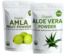 Organic Amla & Aloe Vera Powder Combo | Hair & Face Mask | 2 packs of 4 oz