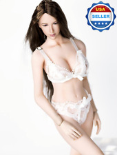 """1/6 scale WHITE Lace Lingeries Bra Panties Set for 12"""" Phicen Female Figure"""
