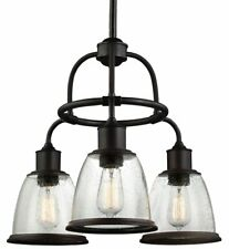 Feiss Lighting F3020/3ORB Hobson Down Chandelier, Oil Rubbed Bronze