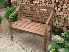 Gartenbank Teak massiv,2-Sitzer Bank,antike Formgebung, Holz Handarbeit