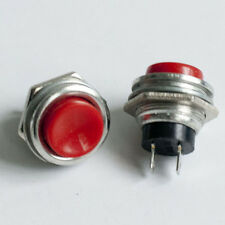 1x Red OFF (ON) Momentary Push Button Horn Switch Horn Button New Horn Button