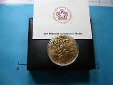 STATUE OF LIBERTY NATIONAL BICENTENNIAL MEDAL 1776-1976 US MINT ISSUE BRONZE