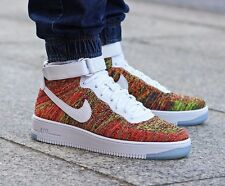 NIKE AIR FORCE 1 ULTRA FLYKNIT MID UK SIZE 7 EUR 41 MENS SHOES TRAINERS RARE