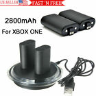 For XBOX ONE Controller Play Charging Cable + 2x Rechargeable Battery Pack