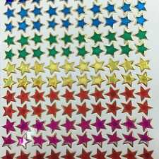 140 Assorted Stars Stickers Kids Project Scrapbook Card Envelope Seal Multicolor