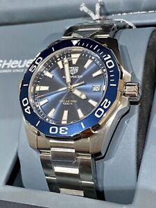 New Tag Heuer Aquaracer Blue Dial Mens Watch way111c.ba0928